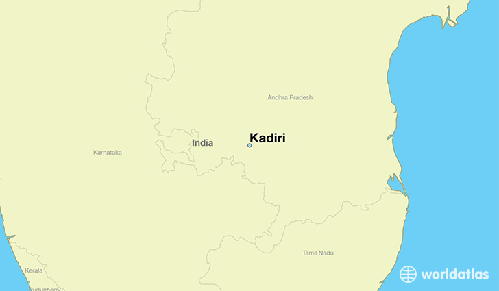 map showing the location of Kadiri