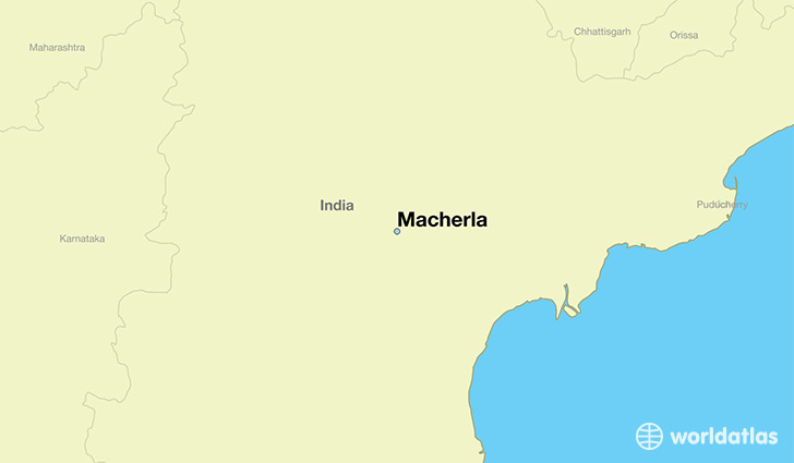 map showing the location of Macherla