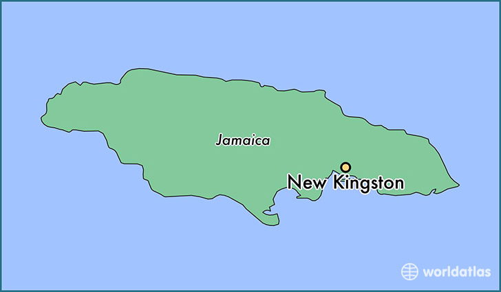 map showing the location of New Kingston