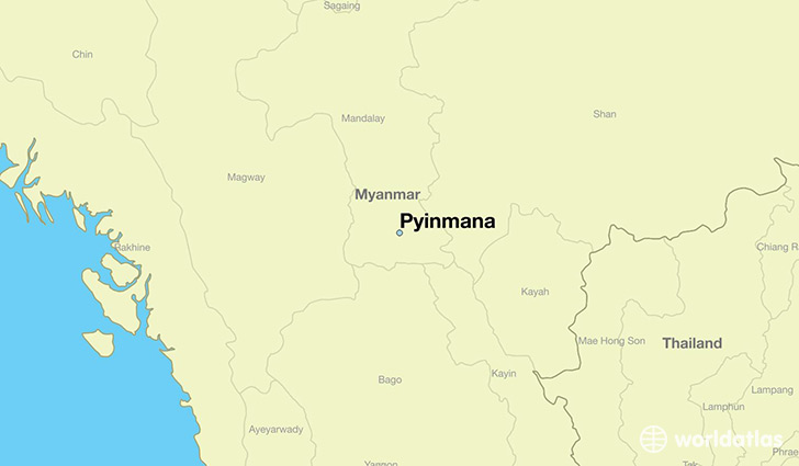 map showing the location of Pyinmana