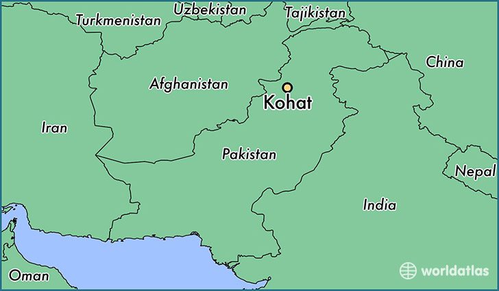 map showing the location of Kohat