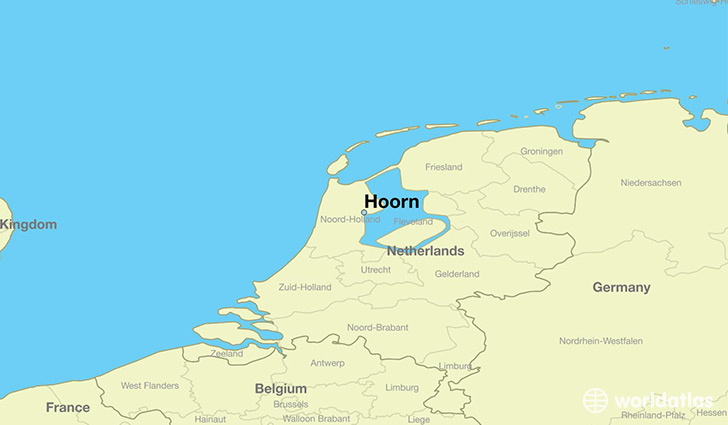 Where is Hoorn The Netherlands Hoorn North Holland Map