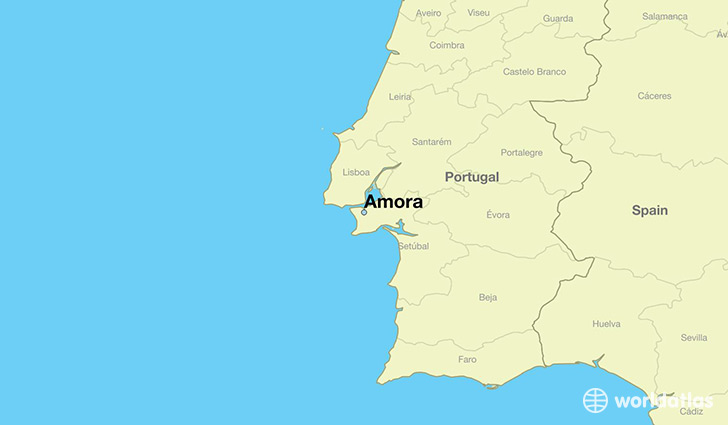 map showing the location of Amora