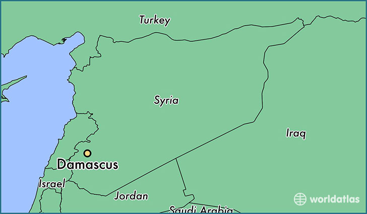 Image result for damascus map location