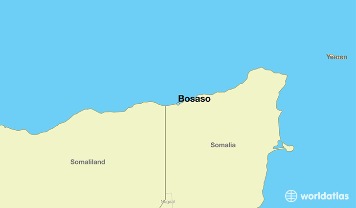 map showing the location of Bosaso