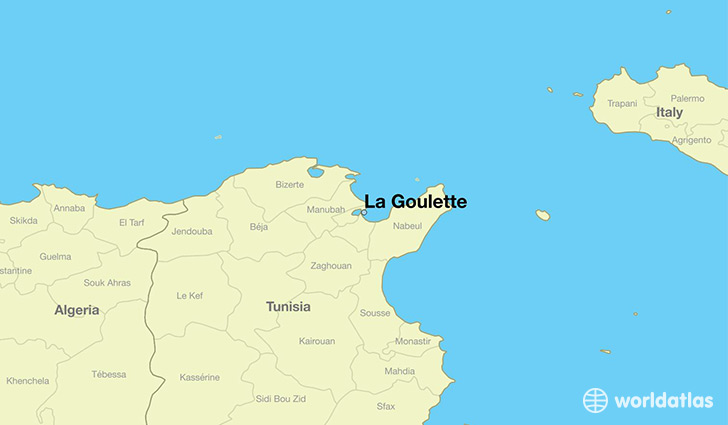 map showing the location of La Goulette