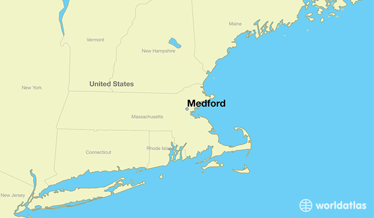 map showing the location of Medford