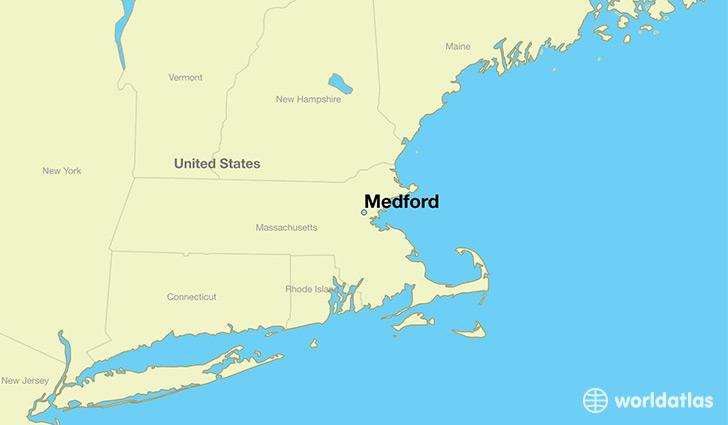 Where is Medford MA Medford Massachusetts Map WorldAtlascom