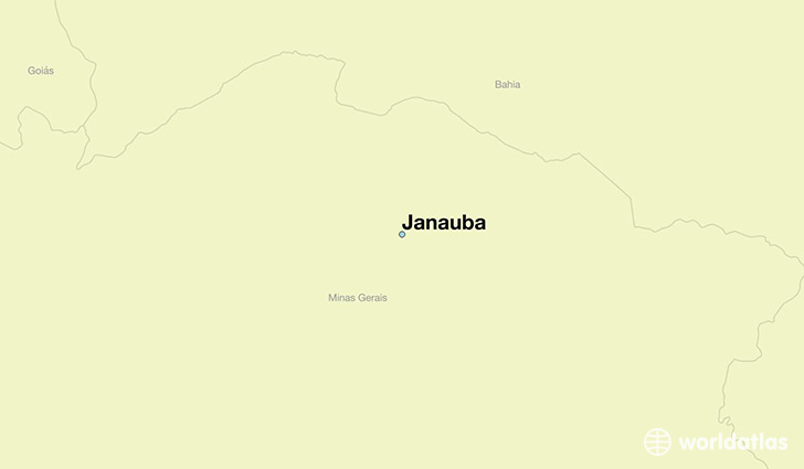 map showing the location of Janauba