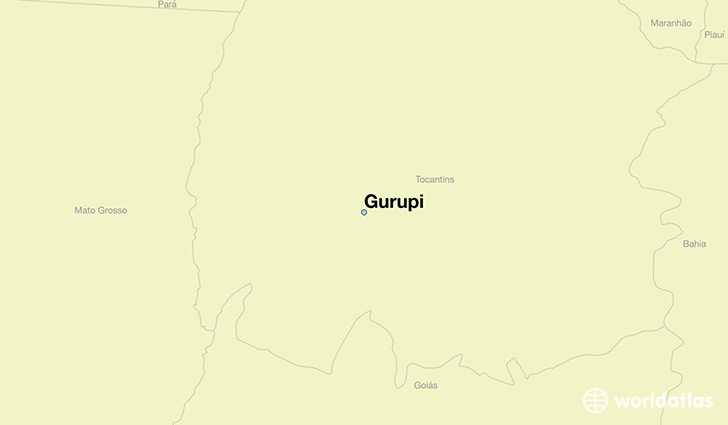 map showing the location of Gurupi