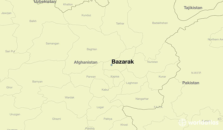 map showing the location of Bazarak