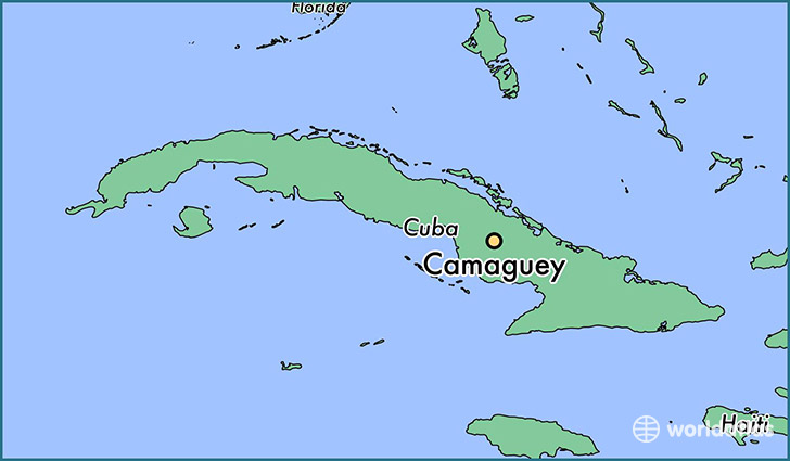 map showing the location of Camaguey