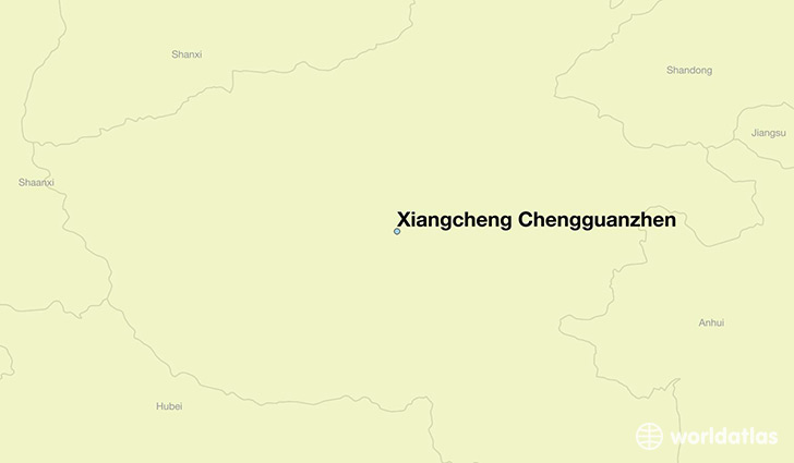 map showing the location of Xiangcheng Chengguanzhen