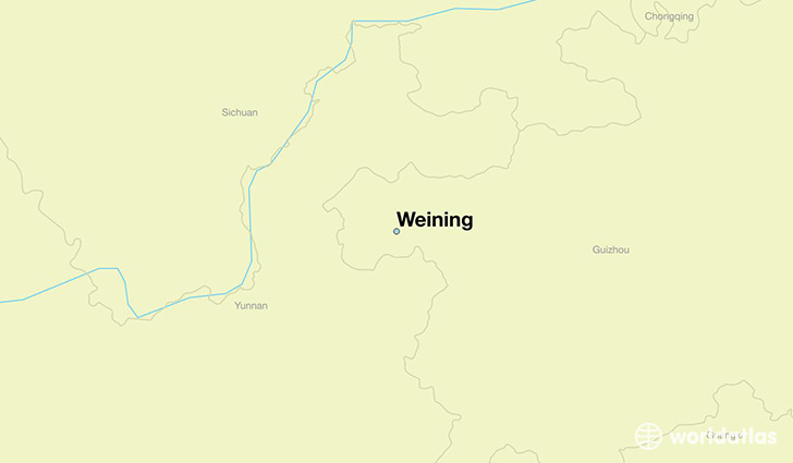 map showing the location of Weining