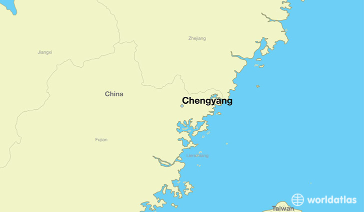 map showing the location of Chengyang