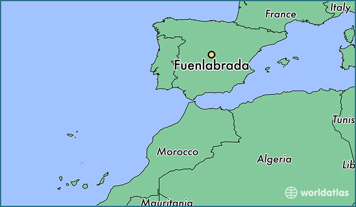 map showing the location of Fuenlabrada