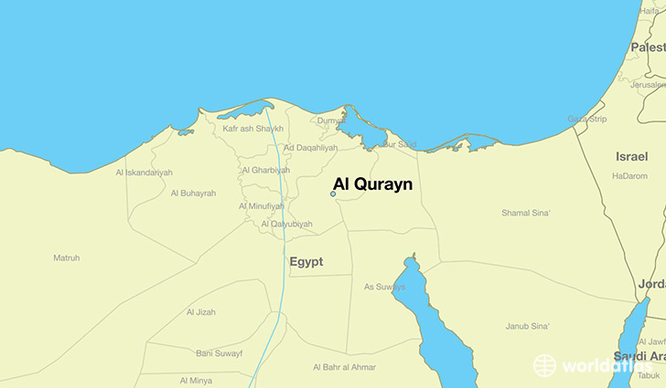 map showing the location of Al Qurayn