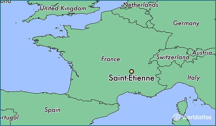 where is saint etienne france saint etienne rhone alpes map. Black Bedroom Furniture Sets. Home Design Ideas
