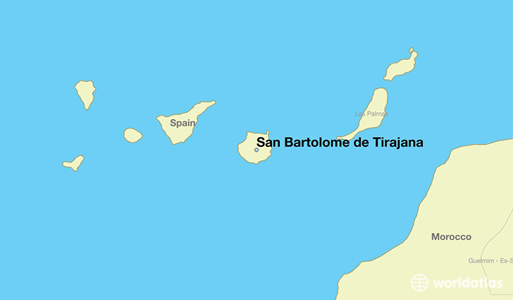 map showing the location of San Bartolome de Tirajana