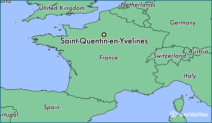 map showing the location of Saint-Quentin-en-Yvelines