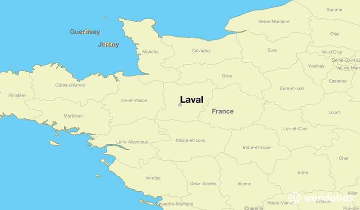 map showing the location of Laval