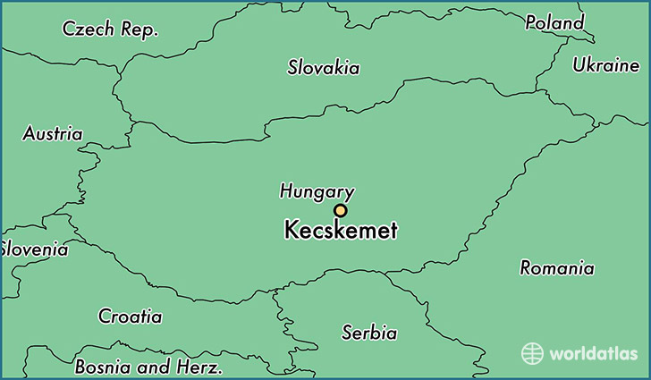map showing the location of Kecskemet