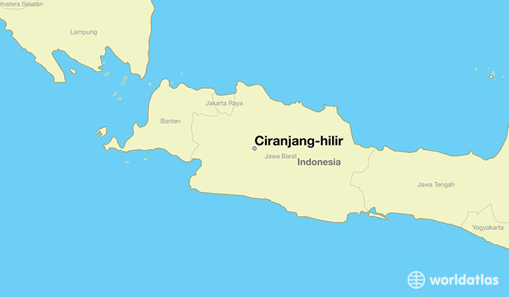 map showing the location of Ciranjang-hilir