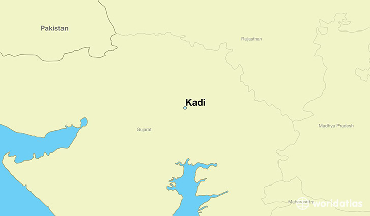 map showing the location of Kadi