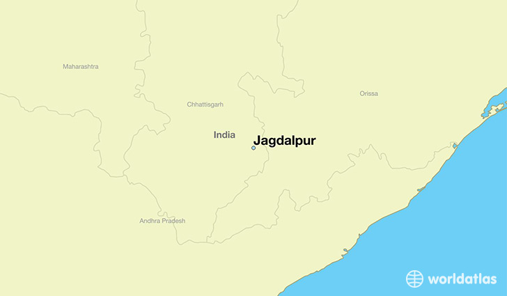 map showing the location of Jagdalpur