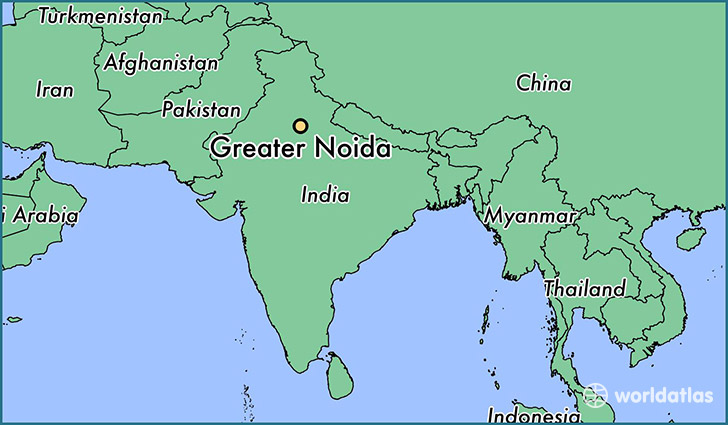 map showing the location of Greater Noida