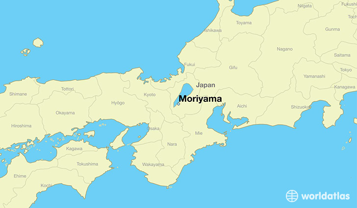 map showing the location of Moriyama
