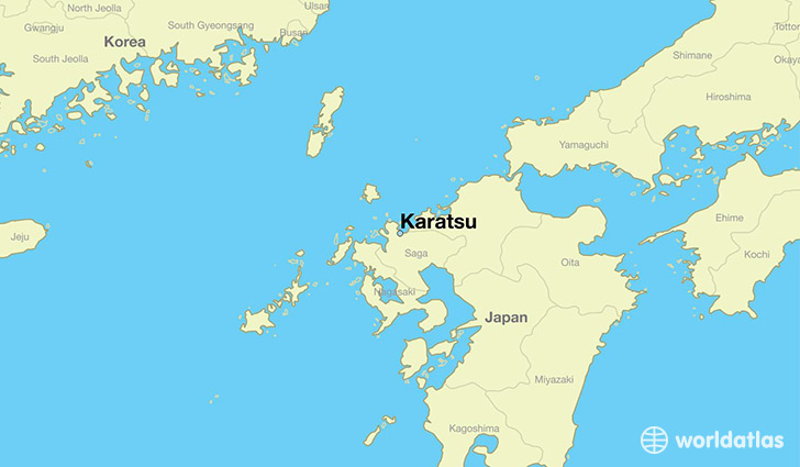 map showing the location of Karatsu