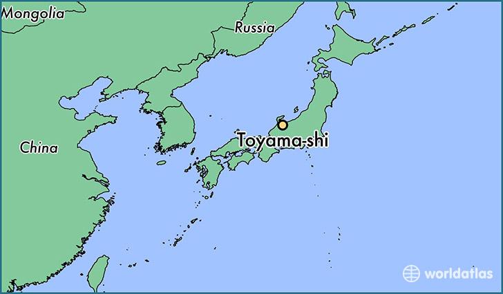Where is Toyamashi Japan Toyamashi Toyama Map WorldAtlascom