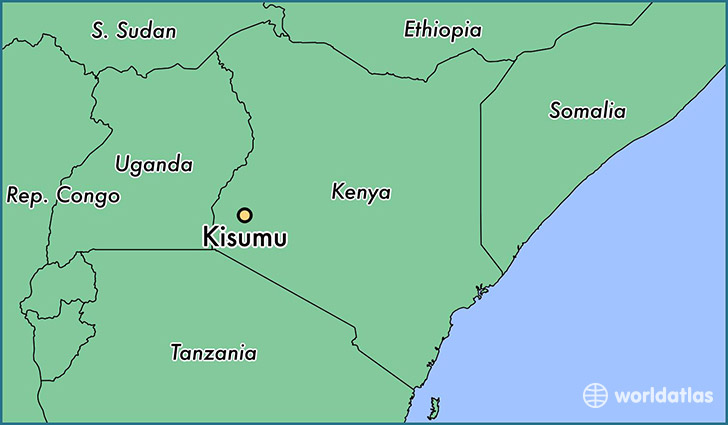 map showing the location of Kisumu