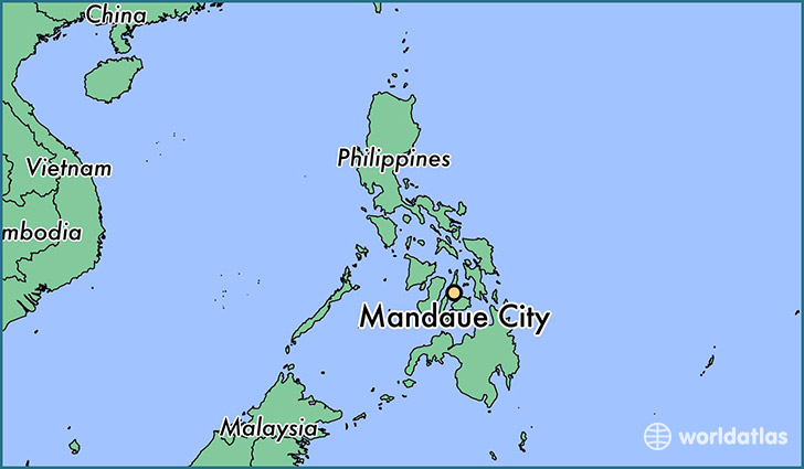 map showing the location of Mandaue City