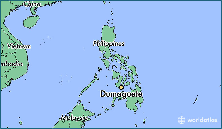 map showing the location of Dumaguete