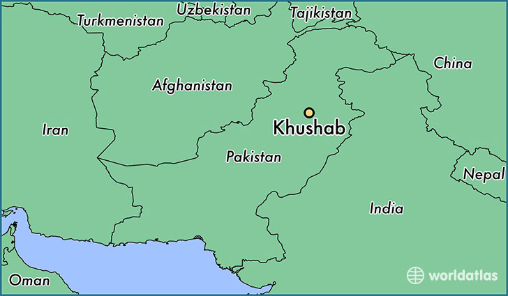 map showing the location of Khushab