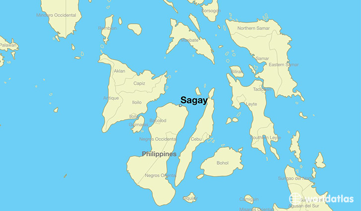 map showing the location of Sagay