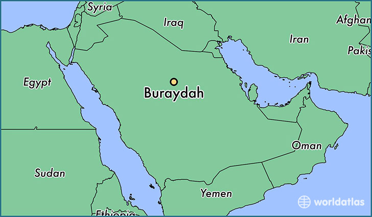 map showing the location of Buraydah