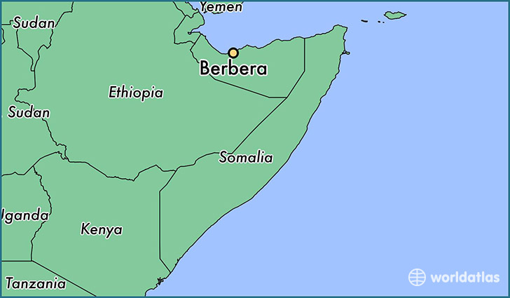 map showing the location of Berbera