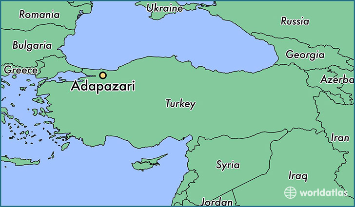 map showing the location of Adapazari