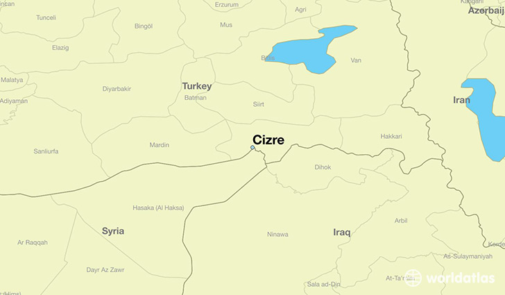 map showing the location of Cizre