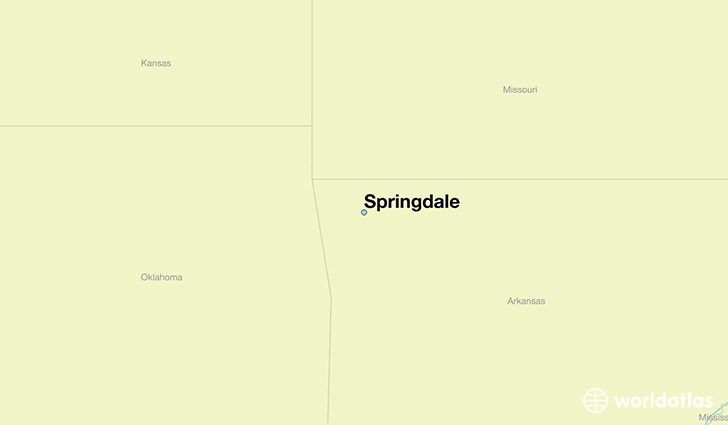 map showing the location of Springdale
