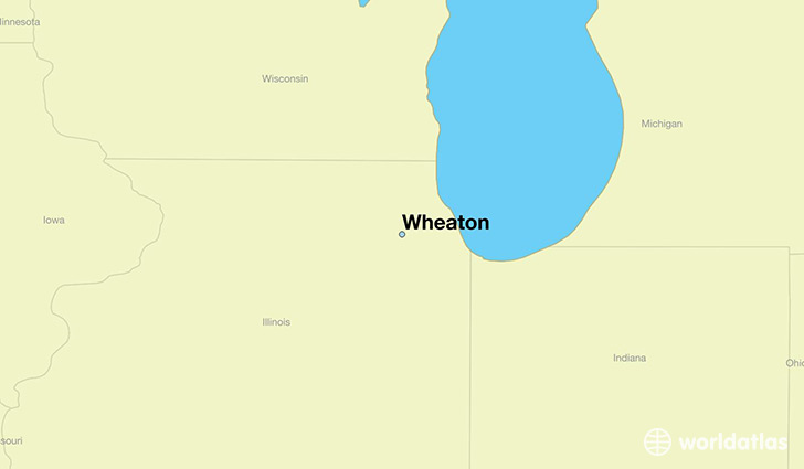 map showing the location of Wheaton