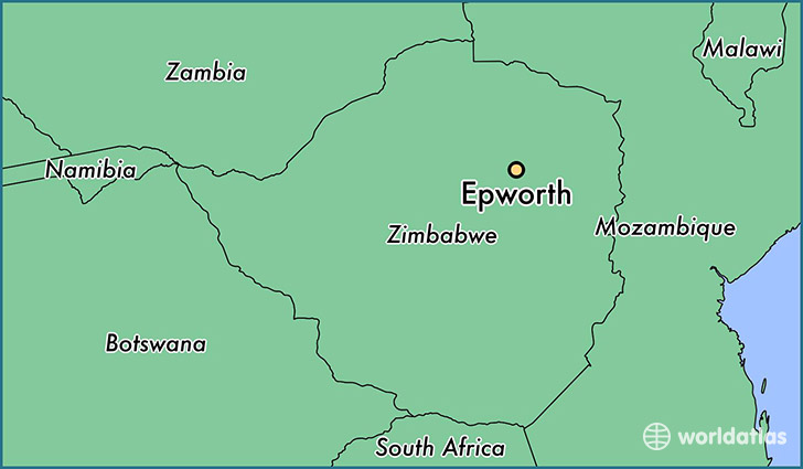 map showing the location of Epworth