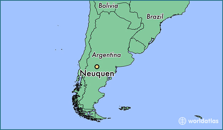 map showing the location of Neuquen