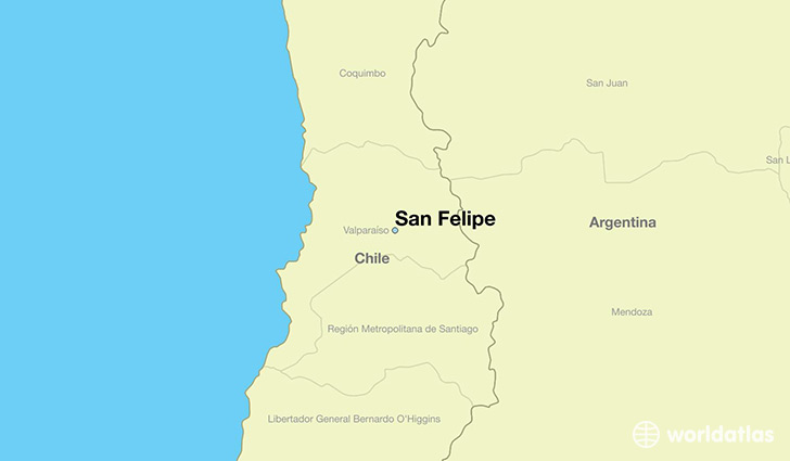 map showing the location of San Felipe