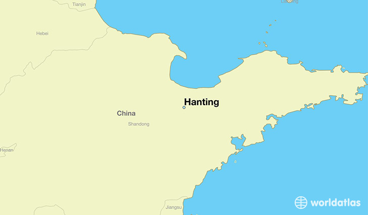 map showing the location of Hanting