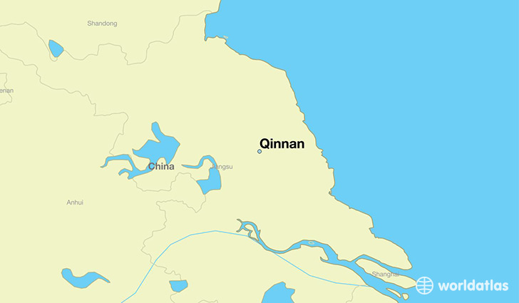 map showing the location of Qinnan