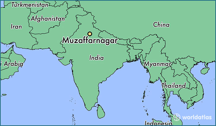 map showing the location of Muzaffarnagar